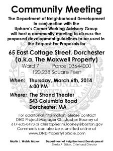 Community Meeting Flyer #2 - 65 East Cottage Street, Dorchester-page-001